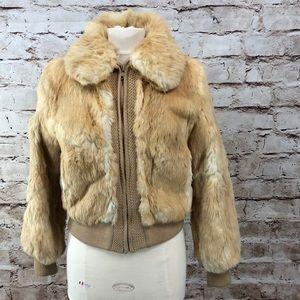 Vintage Dino Ricco Rabbit Bomber Jacket